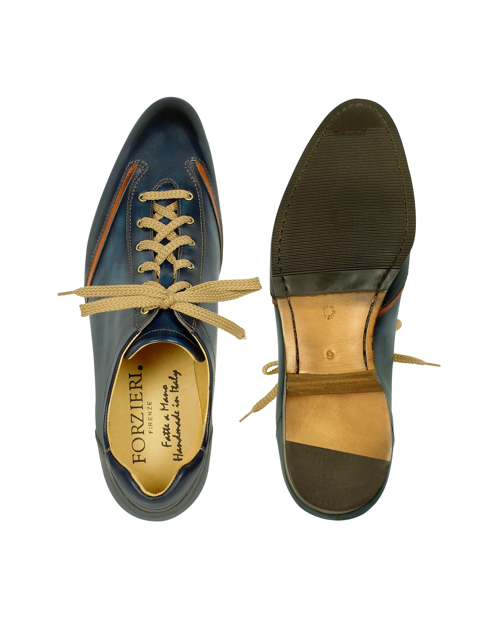 forzieri s blue handmade italian leather lace up shoes