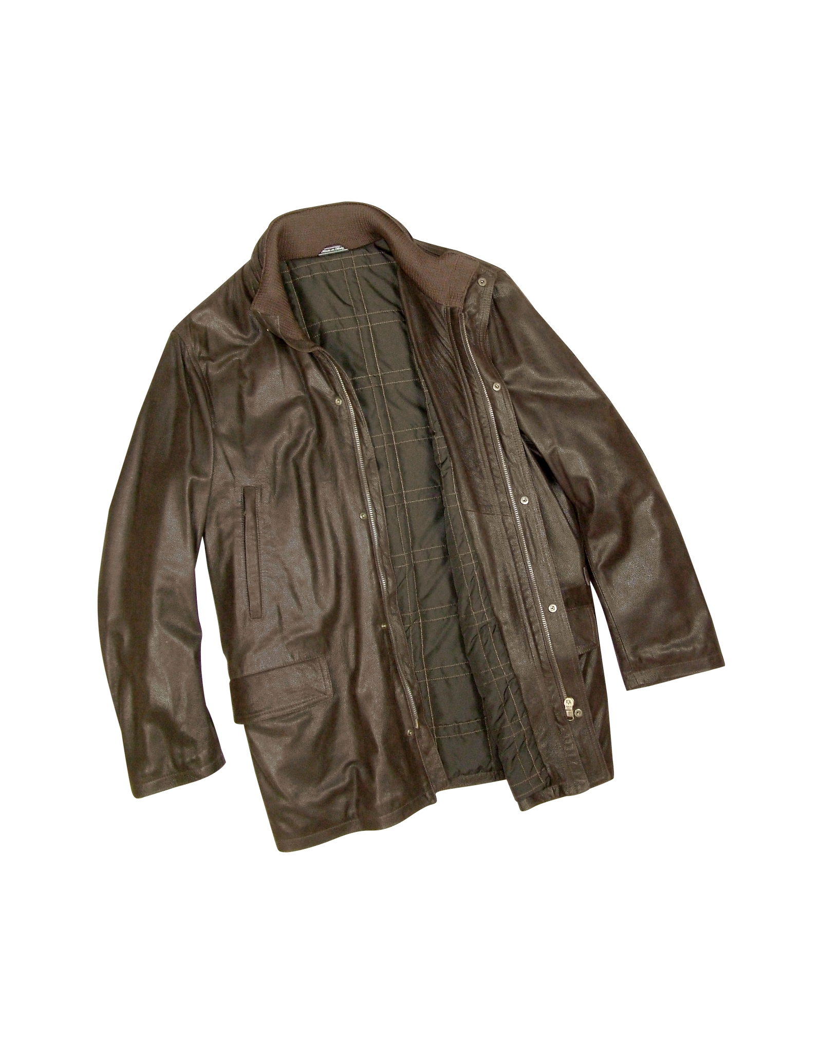 Mens Leather Car Coat Photo Album - Reikian
