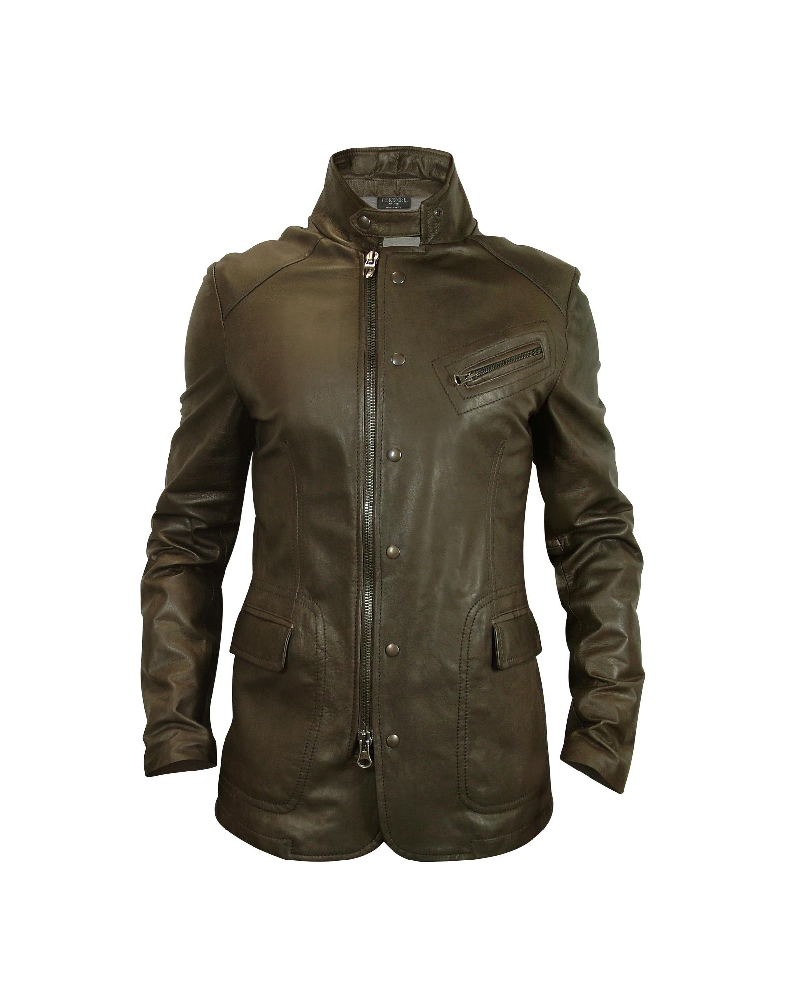 Forzieri Menu0026#39;S Dark Brown Zip Leather Jacket In Brown For Men | Lyst