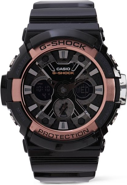 g shock ga200 black and gold in black lyst