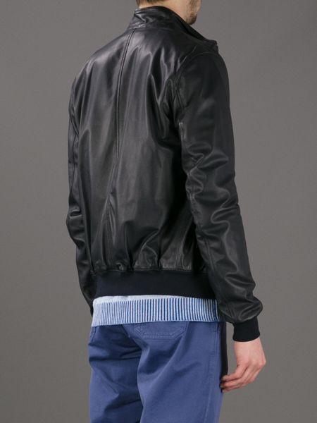 Dsquaredb Leather Jacket in Purple for Men (plum) | Lyst