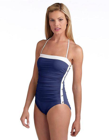 Lauren By Ralph Lauren Bel Aire Onepiece Swimsuit in Blue (navy)