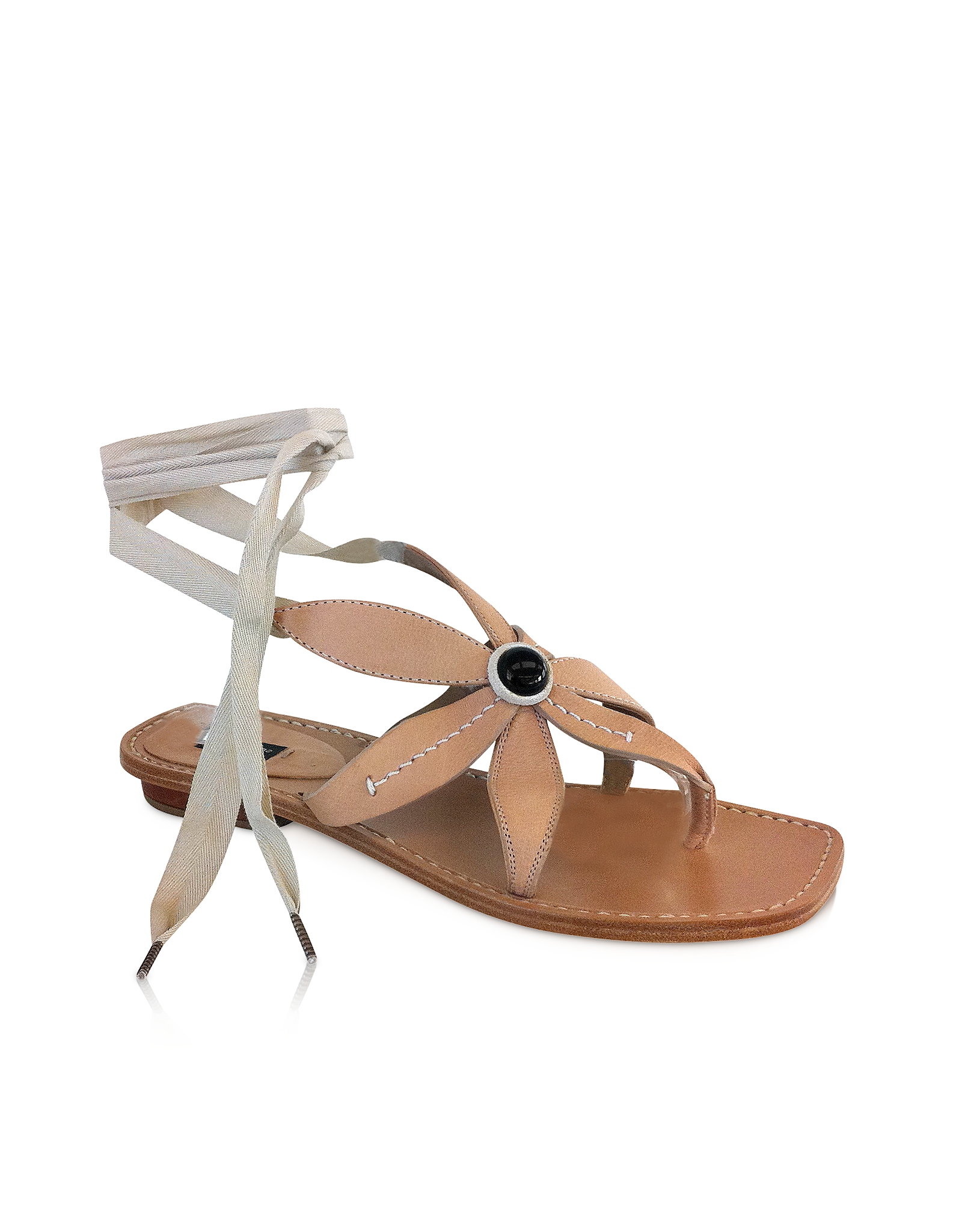 Marc jacobs Powder Pink Flower Sandals in Natural