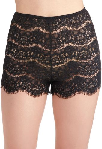 ModCloth Daybed At Dawn Sleep Shorts in Black - Lyst