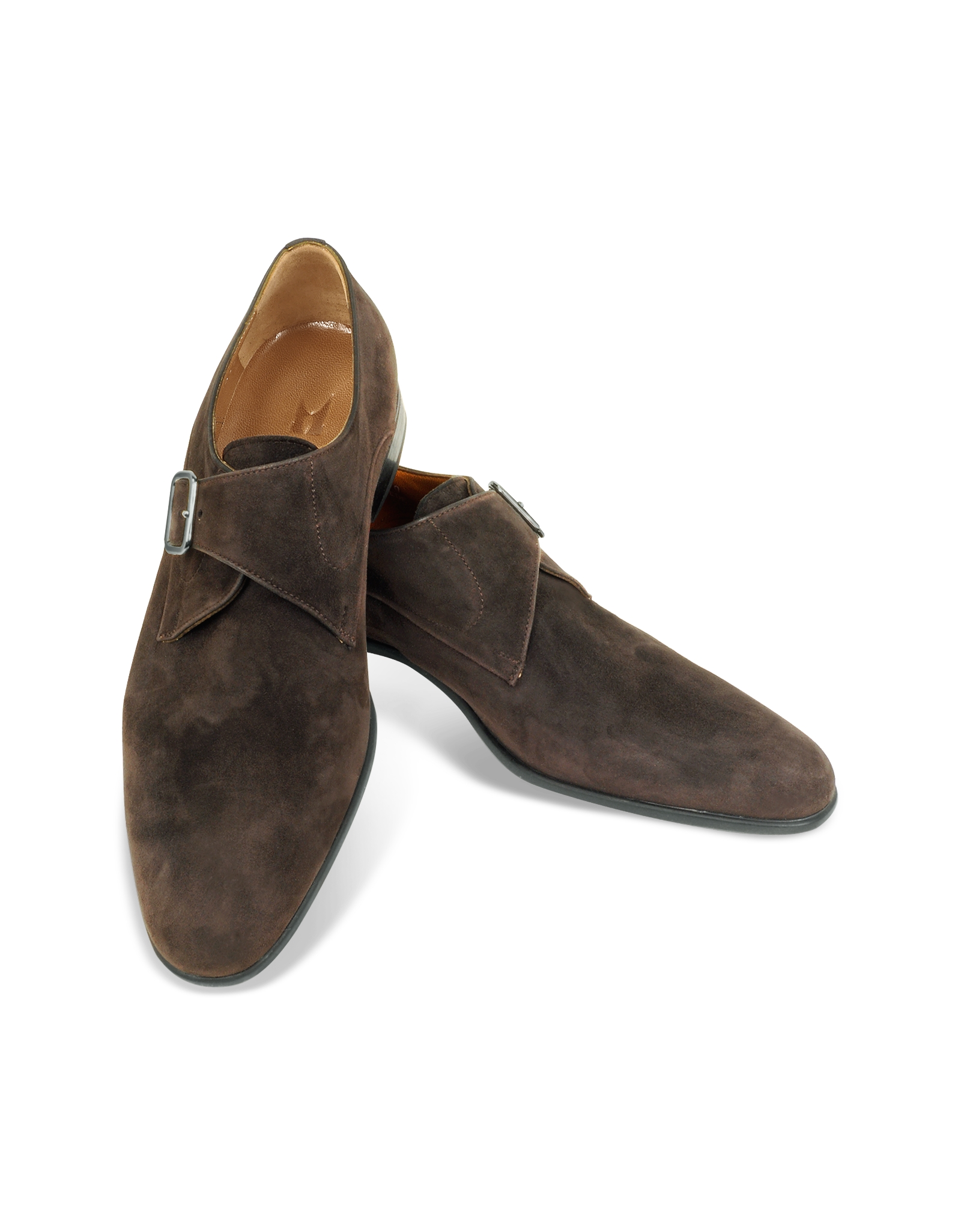 This is a pair of men's Alden Monk Strap dress shoes in brown suede leather size 13 C in fair condition. these have been heavily worn but still have a nice look to them. Made in the USA. $ Santoni Brown Suede Leather Double Monk Straps Dress Shoes w/ Bally Bag. $