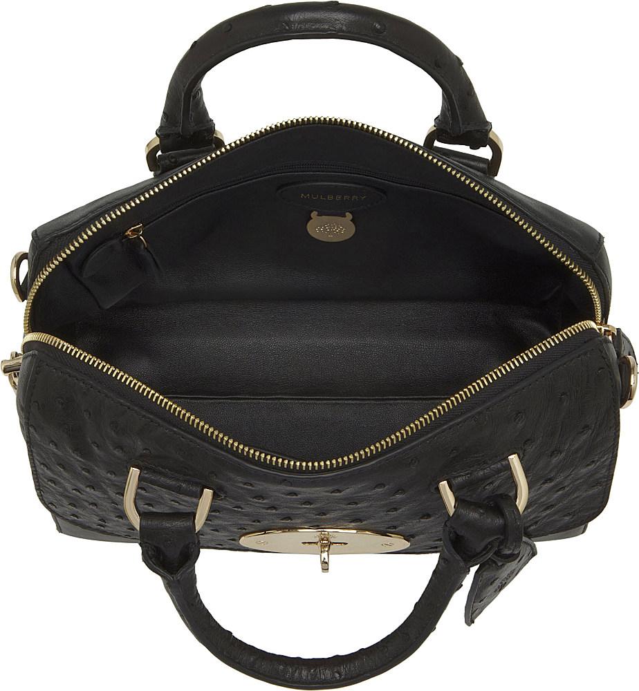 ... promo code mulberry del rey small calf and ostrich bag in black lyst  2b13e 92cda ... d6873bd738a88