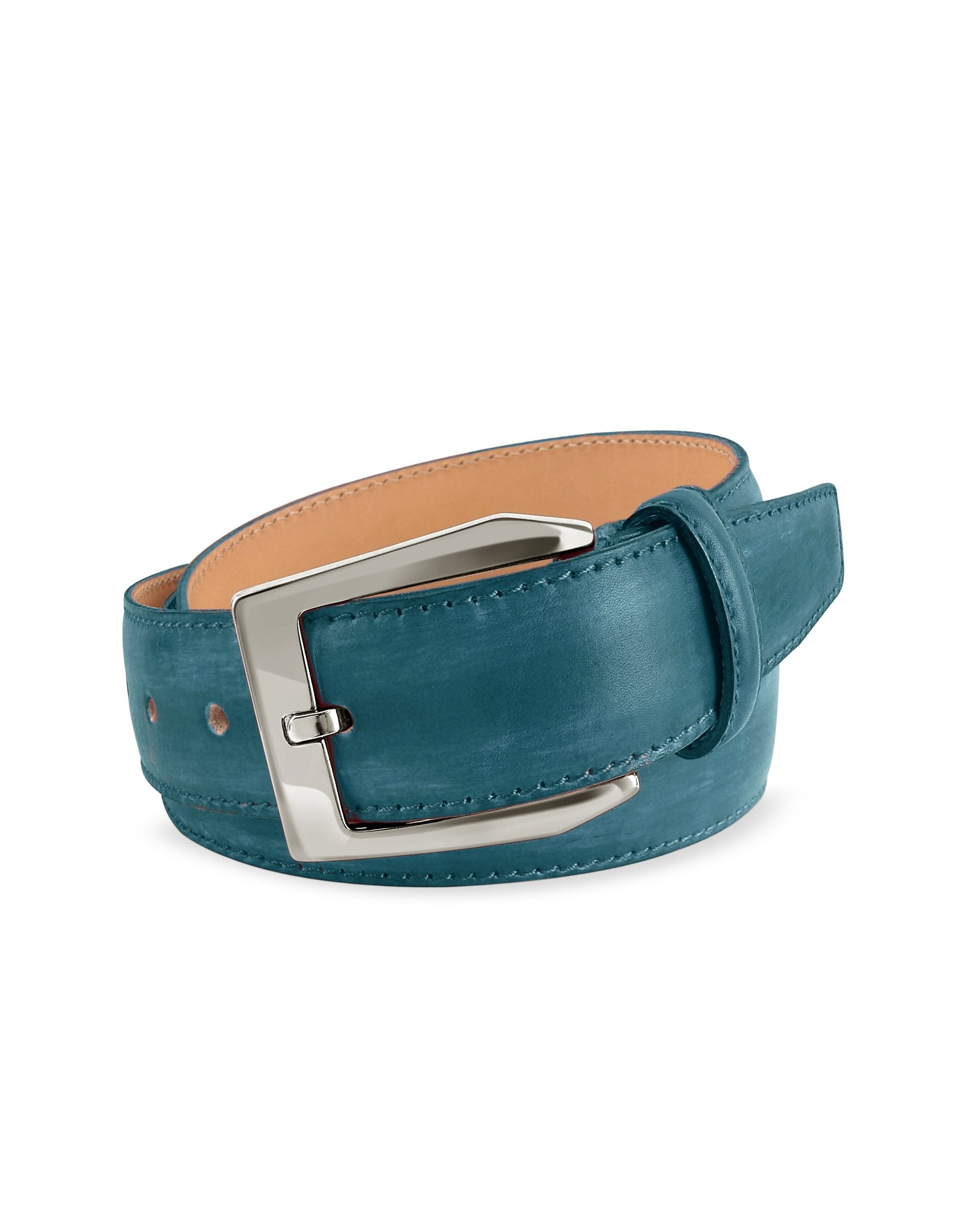 pakerson s petrol blue painted italian leather