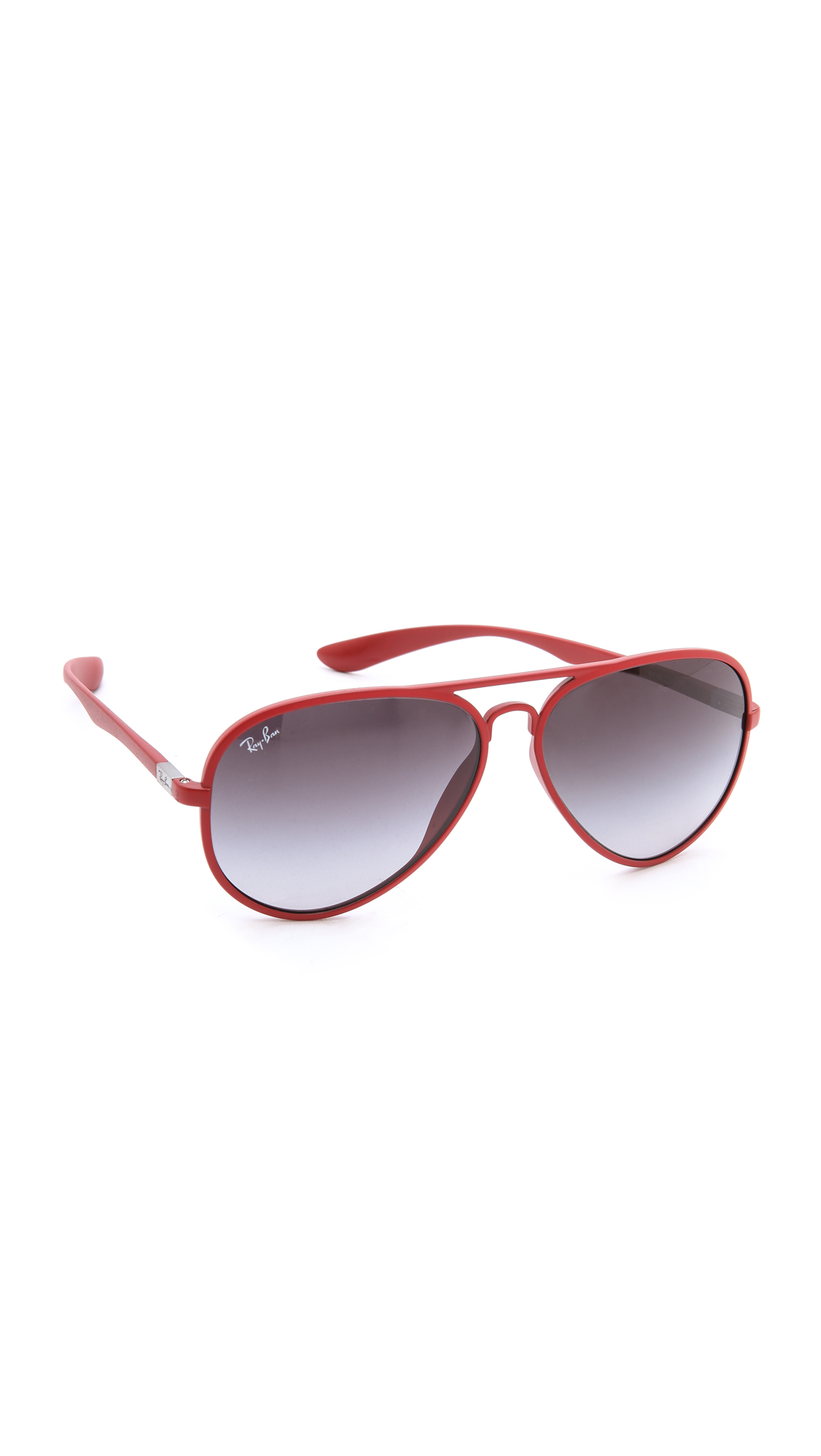 Lyst Ray Ban Aviva Liteforce Sunglasses In Red