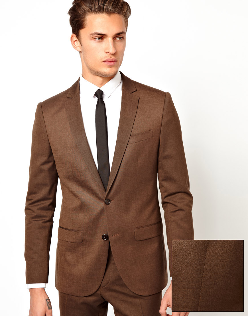 River island Fisher Suit Jacket in Brown for Men | Lyst