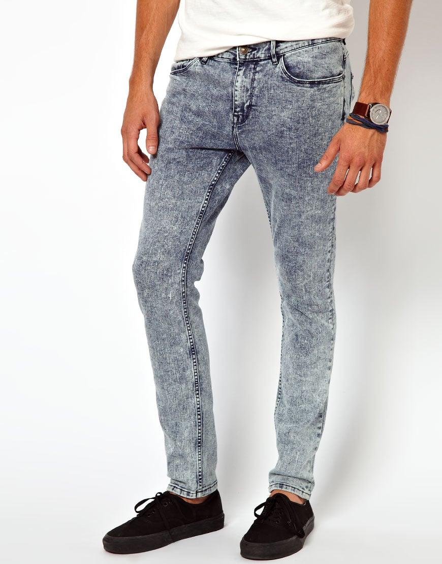 Acid Wash Denim Jeans Men