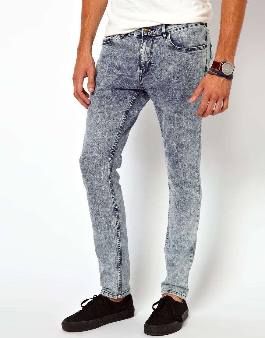 lyst river island vinny acid wash jeans in gray for men
