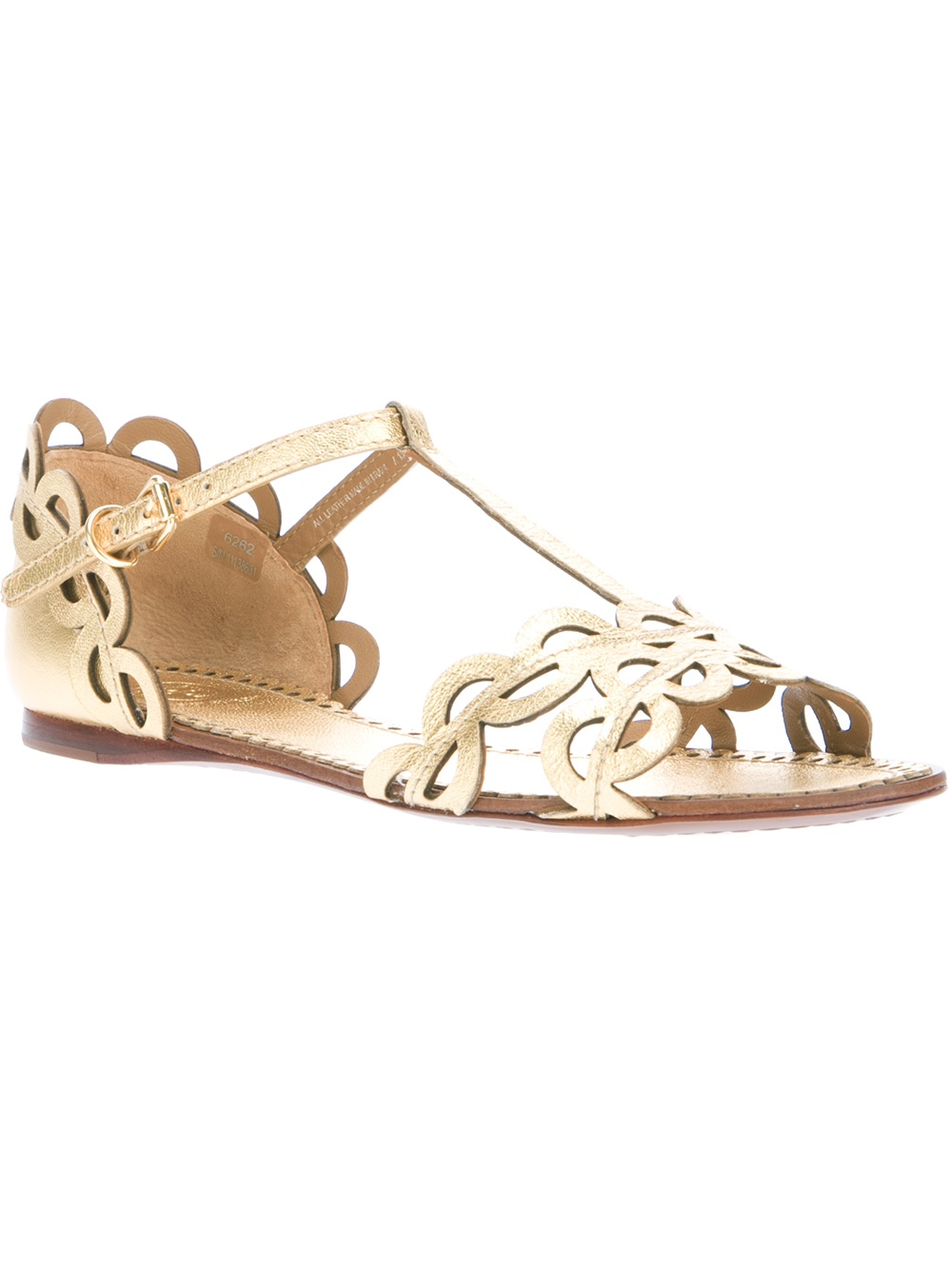 Tory Burch Aileen Flat Sandal In Metallic Lyst