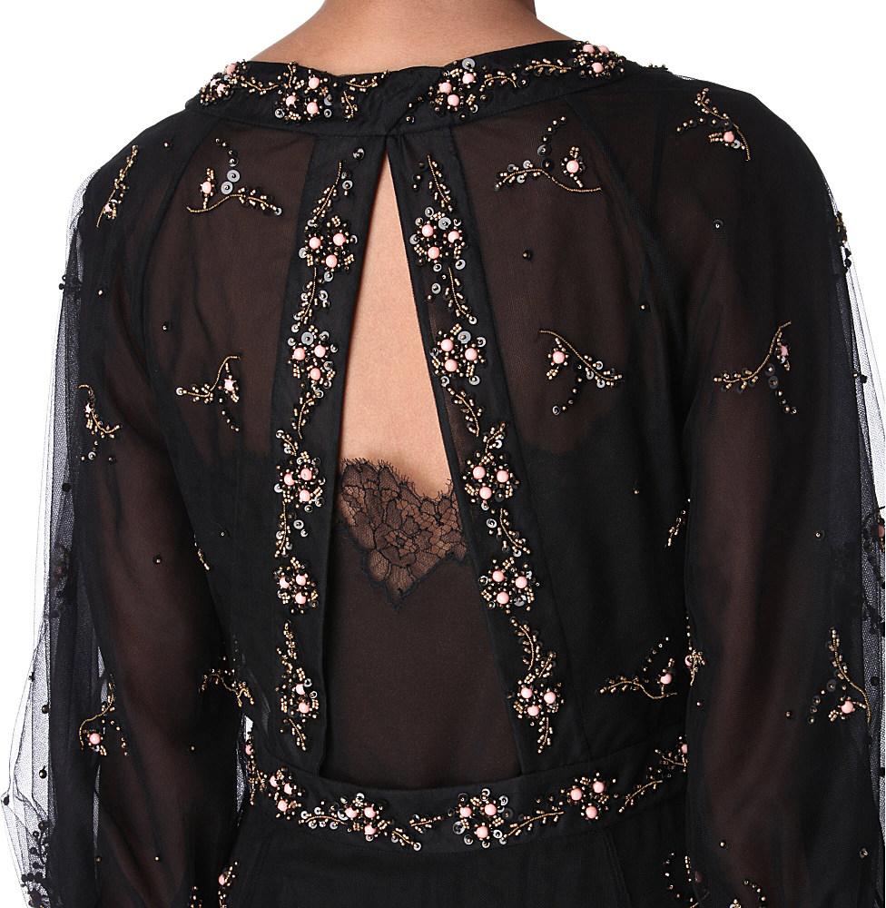 6dd787730fa Valentino Gold Lace Dress