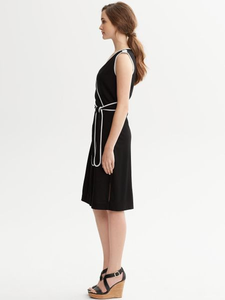 Banana Republic Ella Faux Wrap Dress In Black Lyst