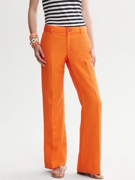 Banana Republic Martin Fit Wide Leg Pant in Orange
