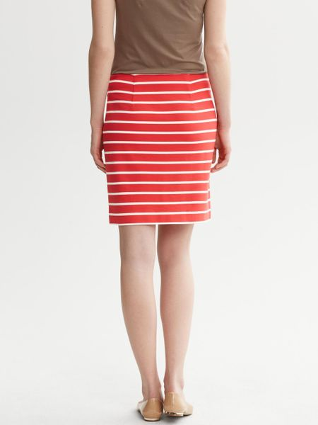Red And White Striped Skirt 84