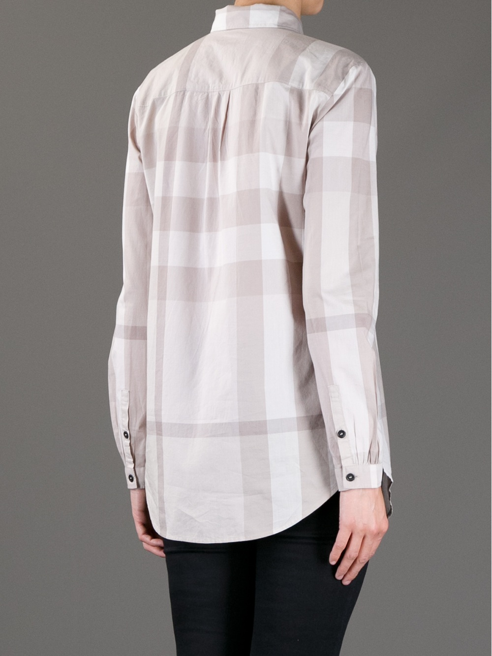 Burberry Brit Checked Shirt in Beige (Natural)