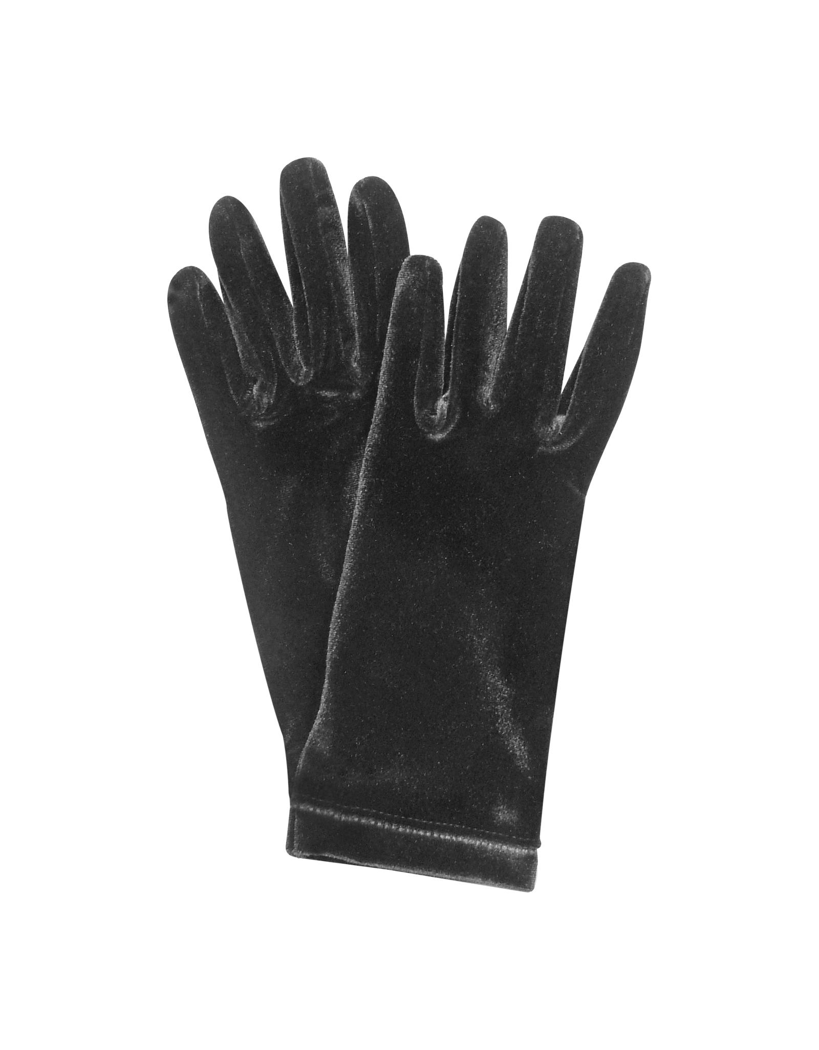 Forzieri Ladies Solid Velvet Gloves In Black Lyst