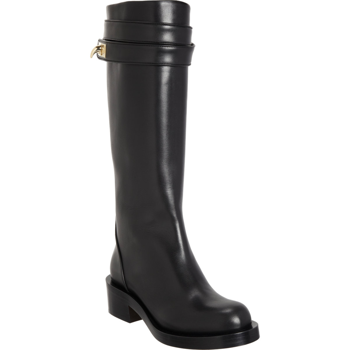 givenchy shark tooth knee boot in black gold lyst