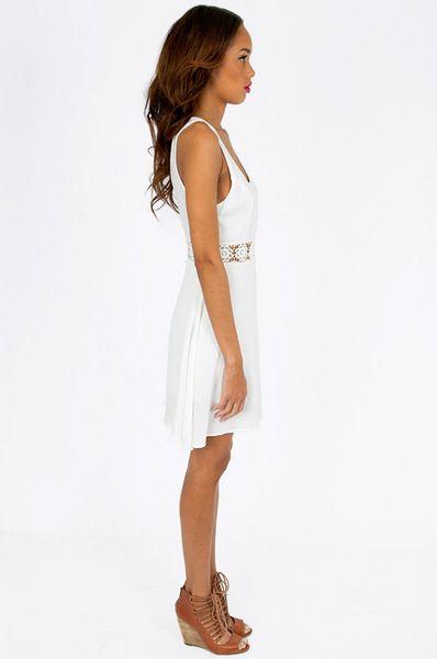 Tobi Daisy Crochet Skater Dress In White Lyst