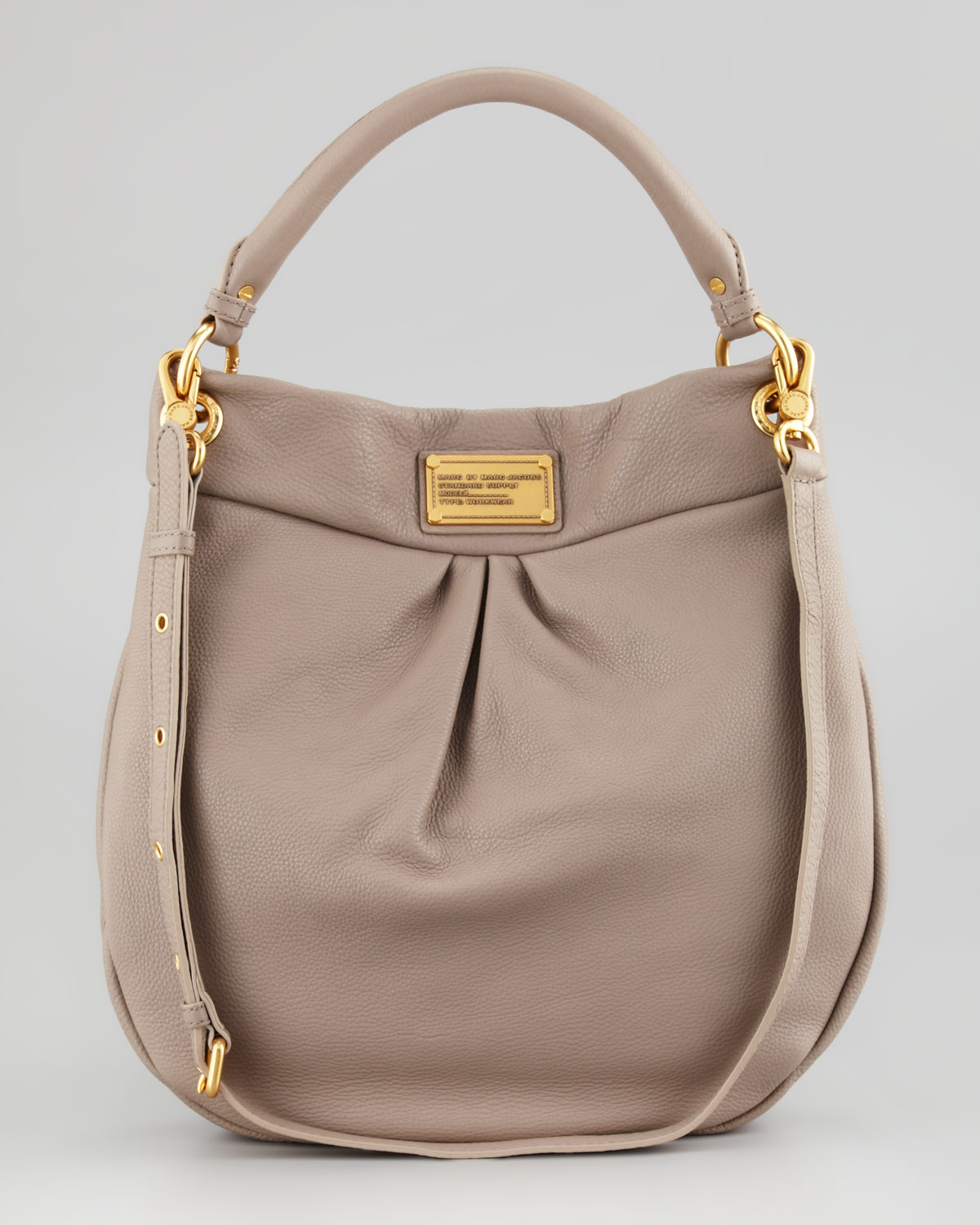 marc by marc jacobs classic q hillier hobo bag in beige lyst. Black Bedroom Furniture Sets. Home Design Ideas