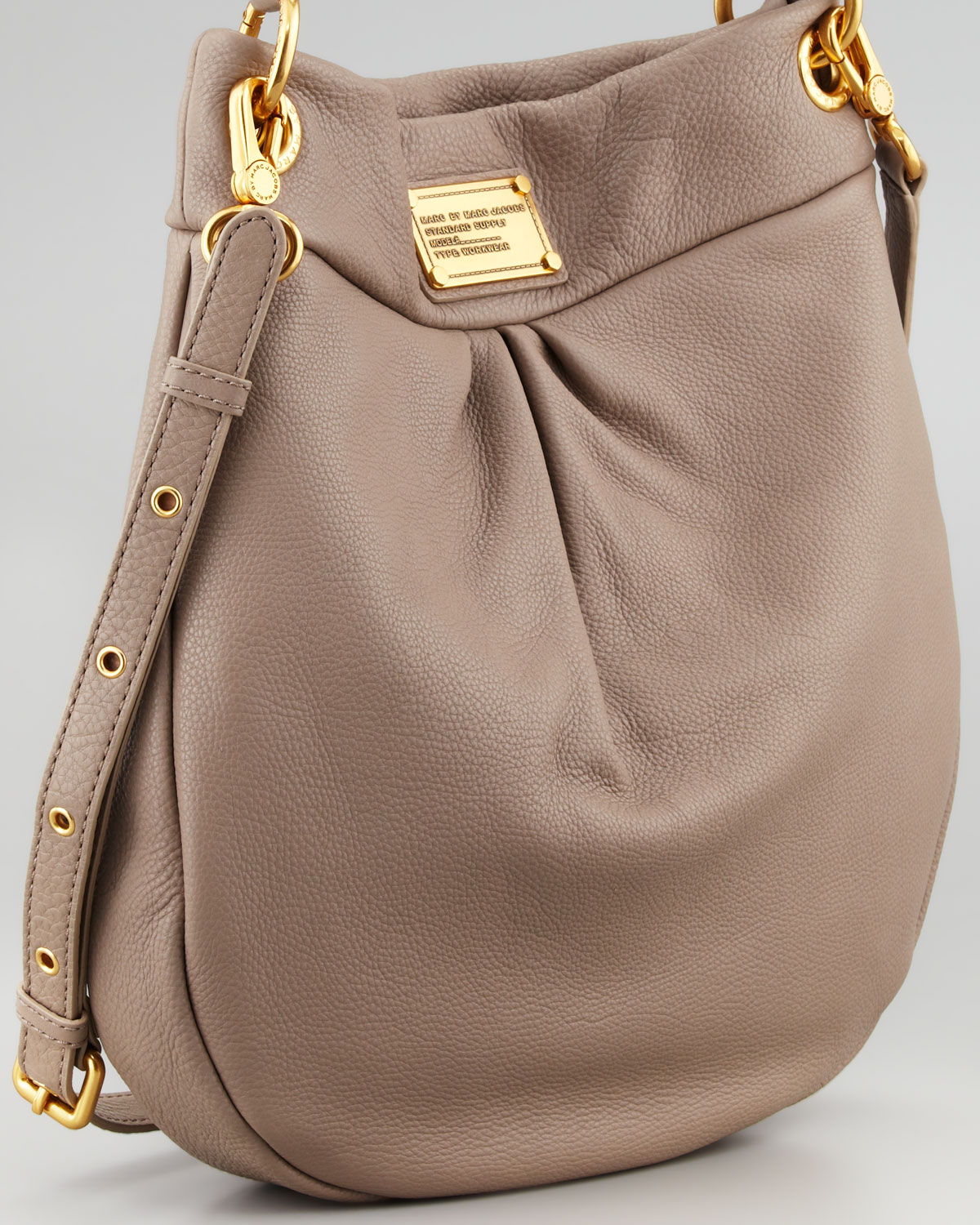 1b235c1c52d6 Lyst - Marc By Marc Jacobs Classic Q Hillier Hobo Bag in Natural