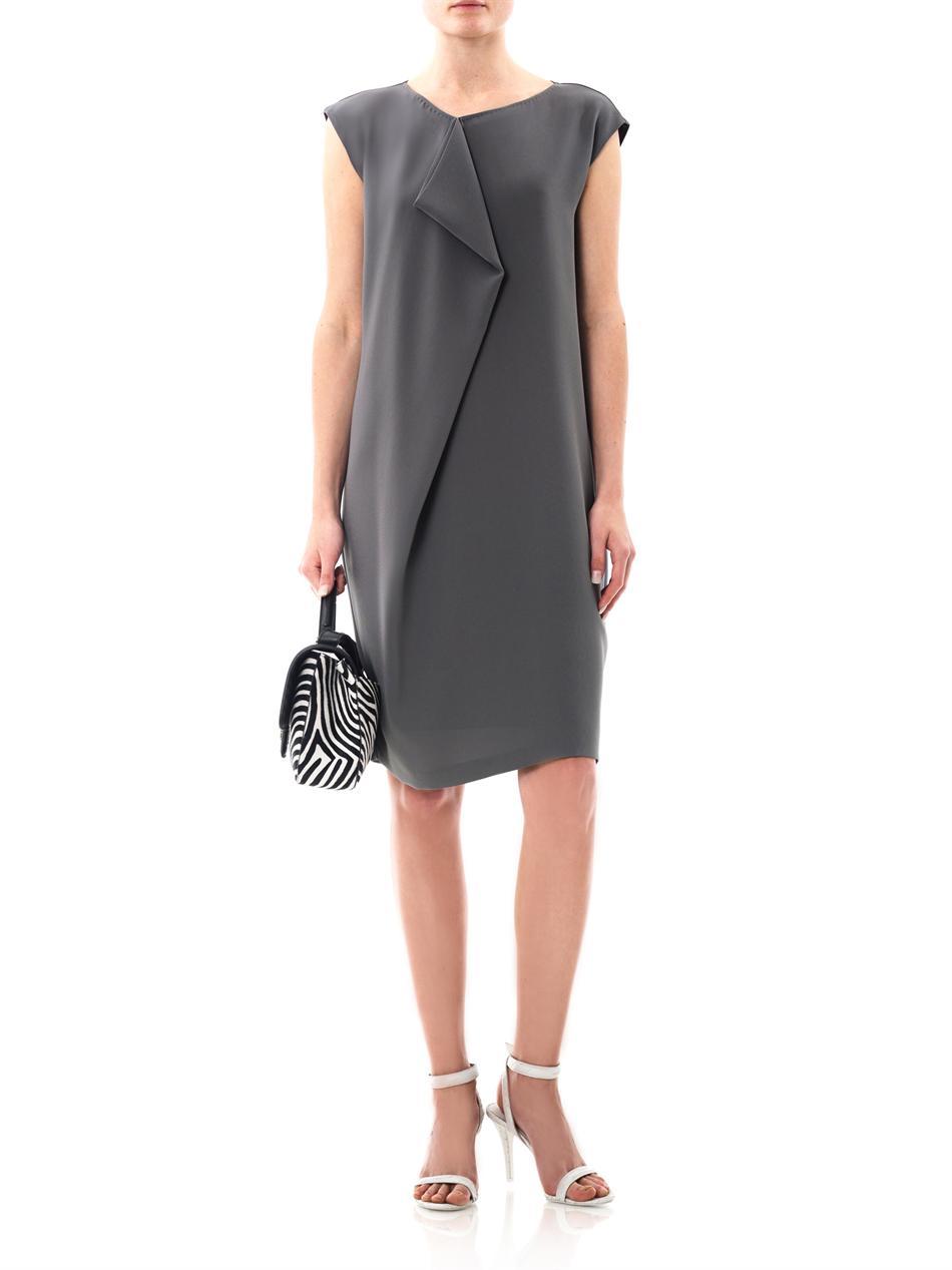 Lyst - Max Mara Valzer Dress in Gray
