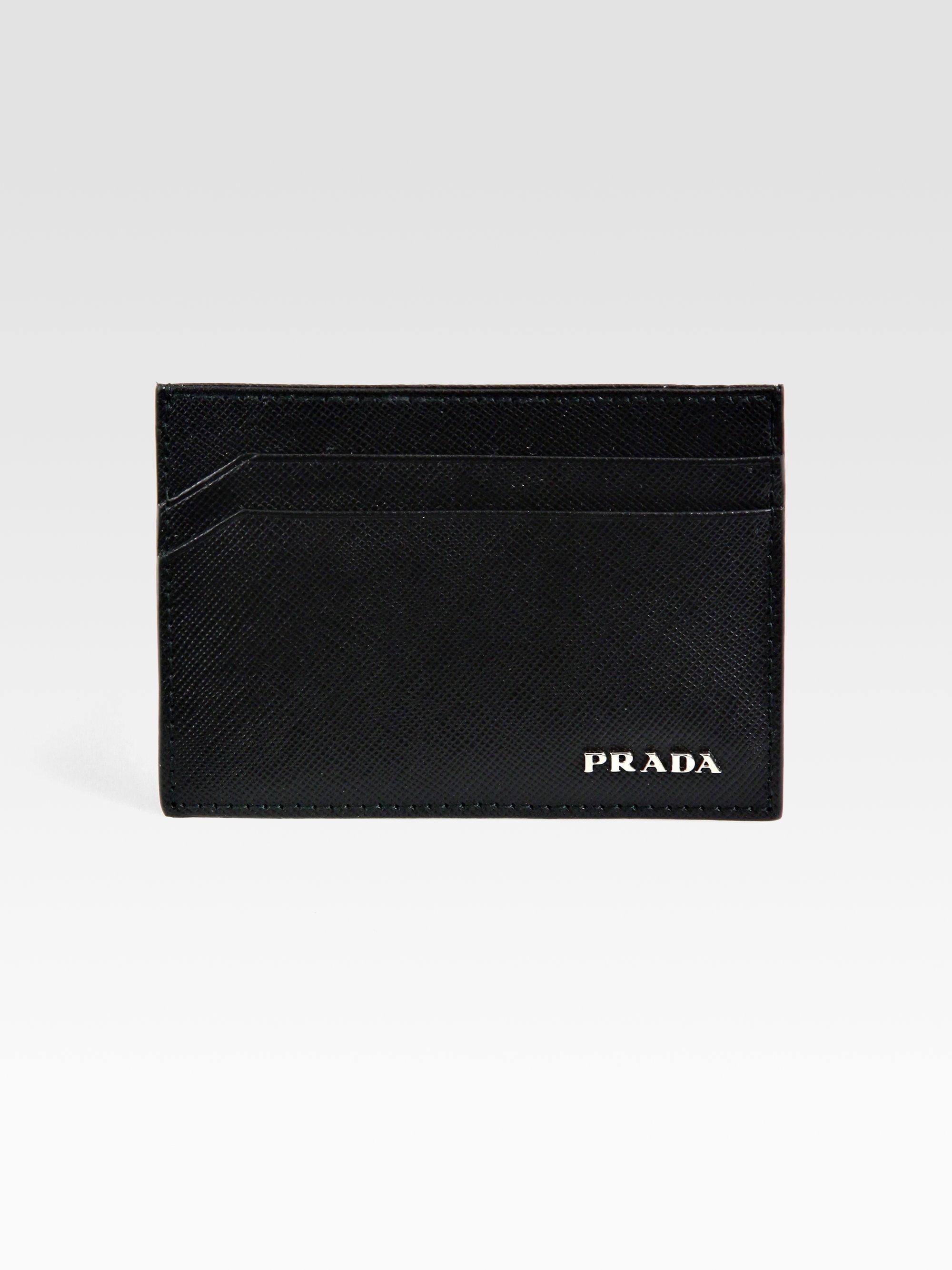Prada Black Saffiano Leather Bifold Wallet in Black for Men | Lyst