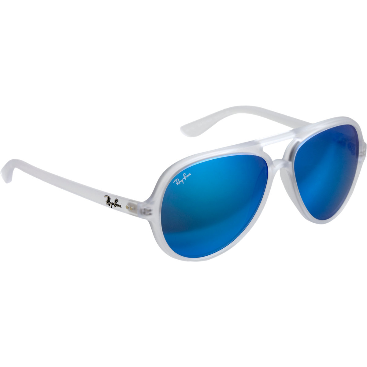 Ray-Ban Transparent Aviator Frame Mirror Lens Sunglasses for Men - Lyst