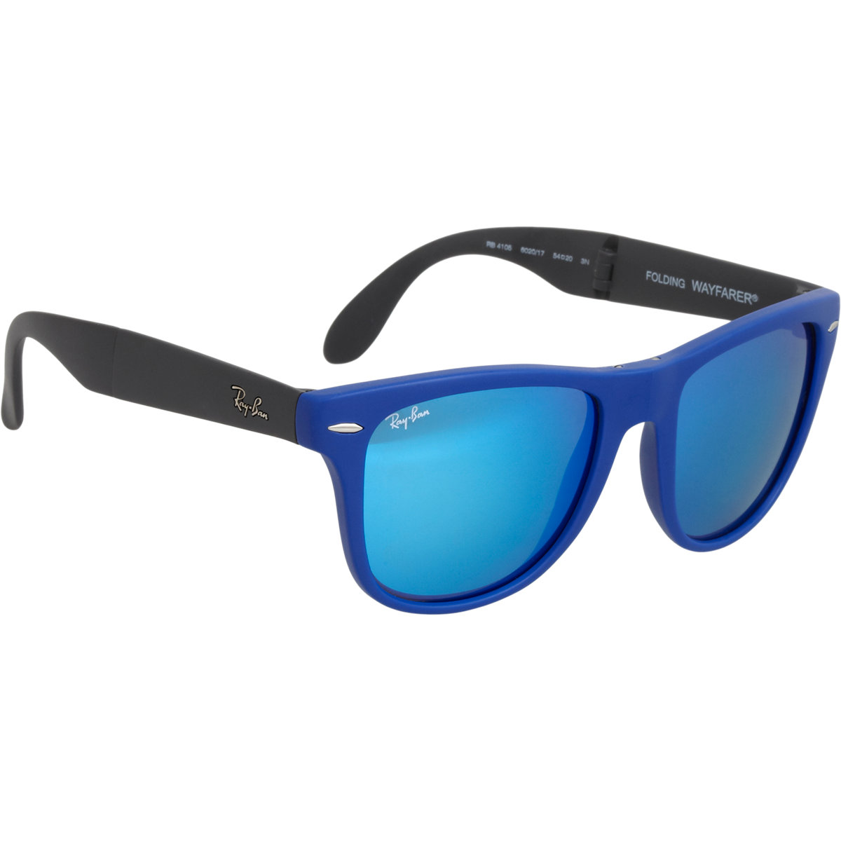 Ray Ban Twotone Mirror Lens Wayfarer Sunglasses In Blue