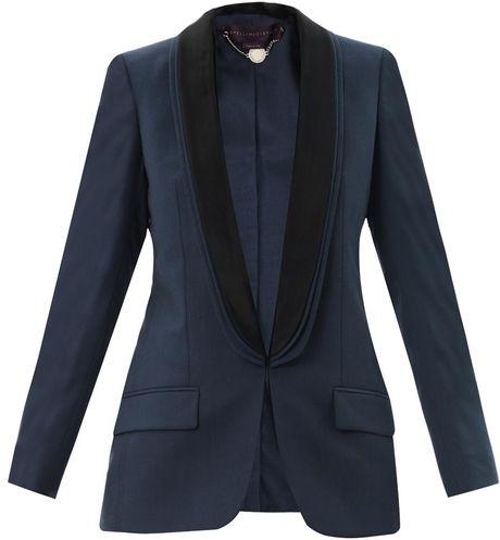 Stella Mccartney Matilda Tuxedo Jacket in Blue (navy)