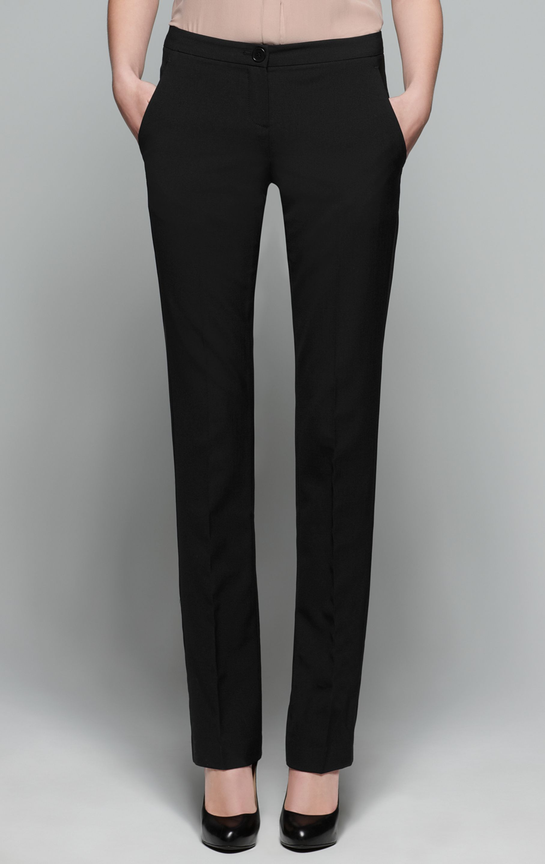 Lyst Theory Rosel Tailor Straight Leg Pant In Black