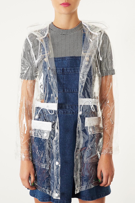 Lyst Topshop Clear Plastic Rain Mac
