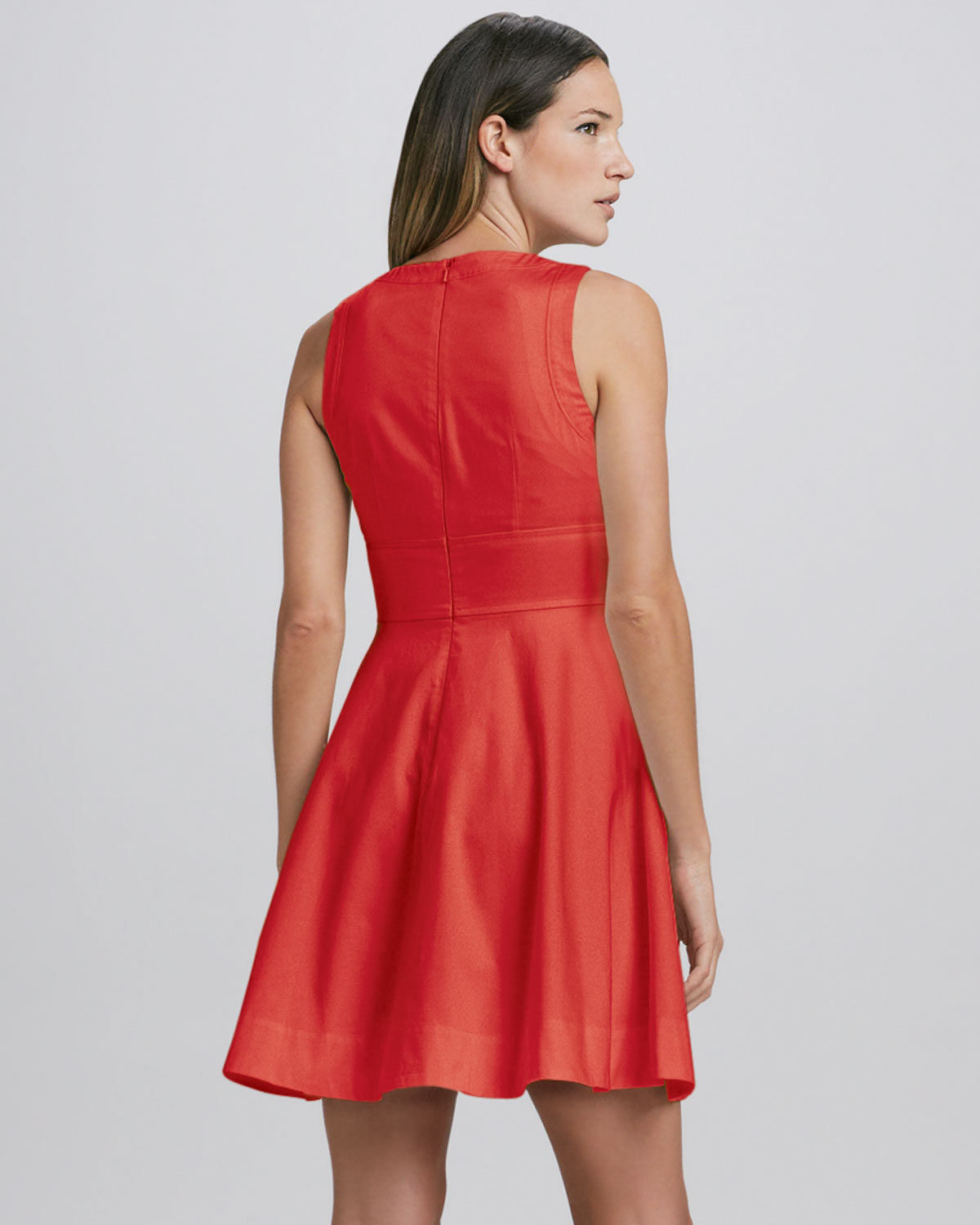 French Connection Sleeveless Fit Flare Dress In Red Lyst
