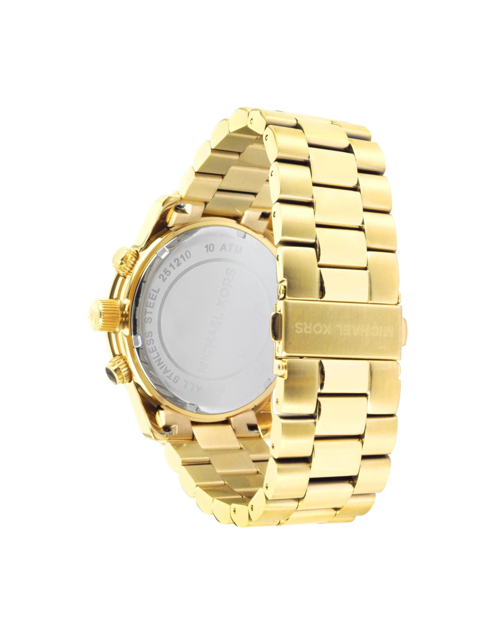 michael kors men s runway gold tone stainless steel bracelet watch gallery