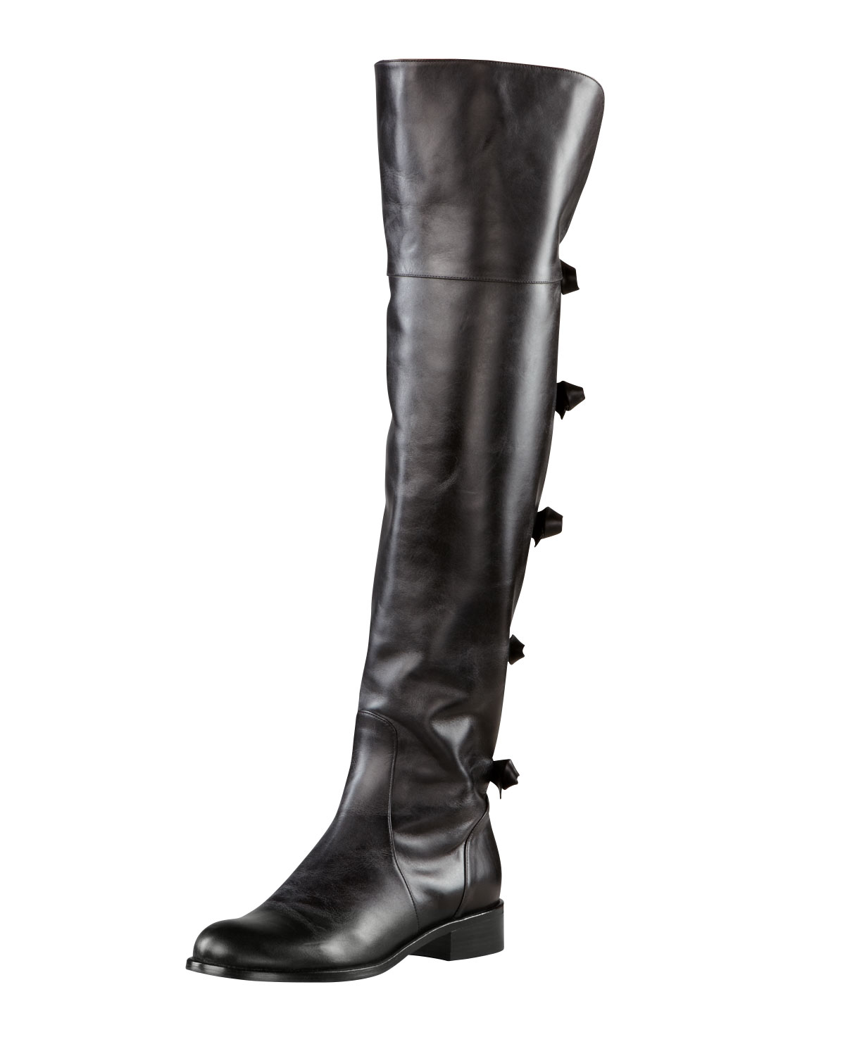 Valentino Flat Over the knee Boot in Black | Lyst