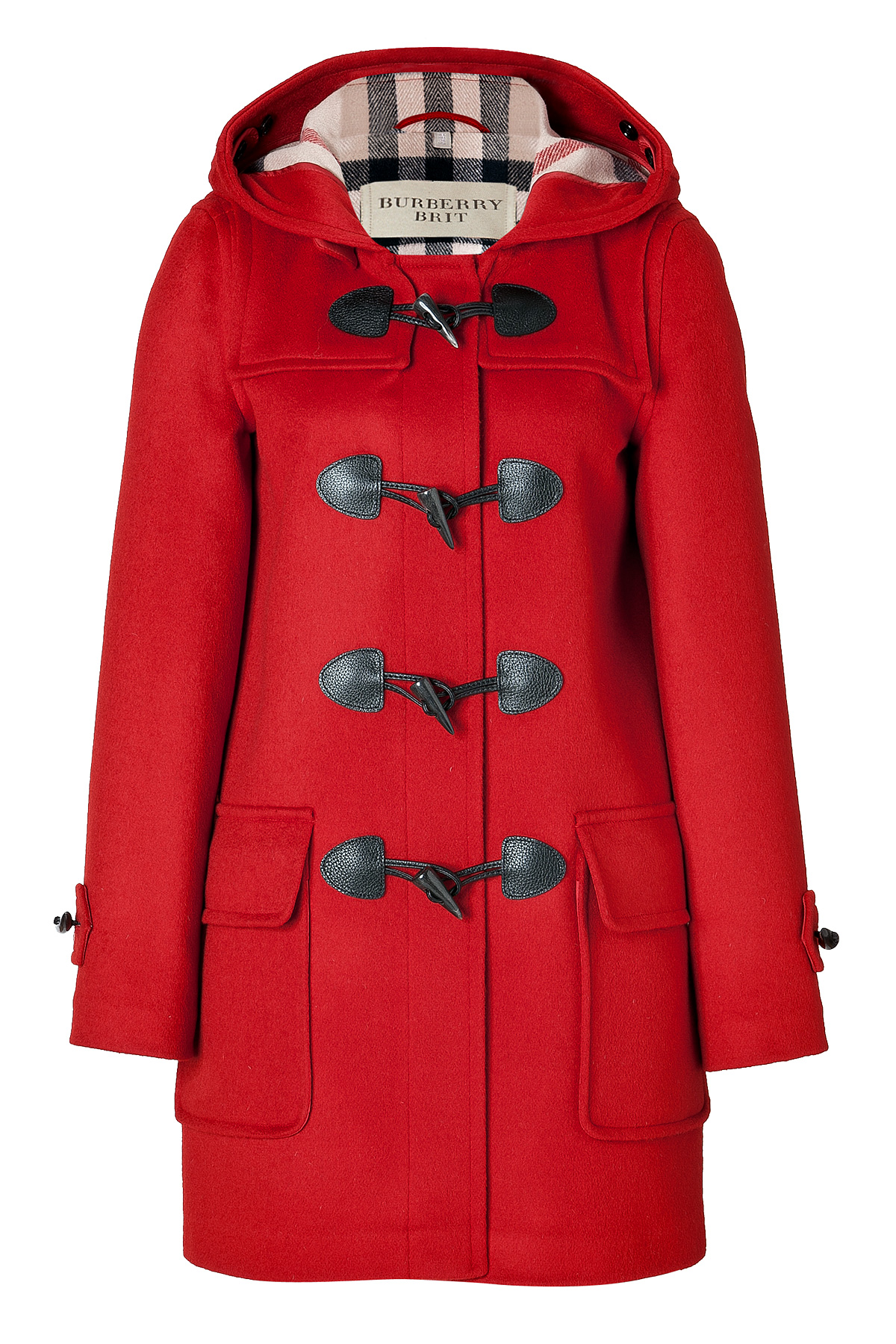 Burberry brit Wool Minstead Duffle Coat in Military Red in Red | Lyst