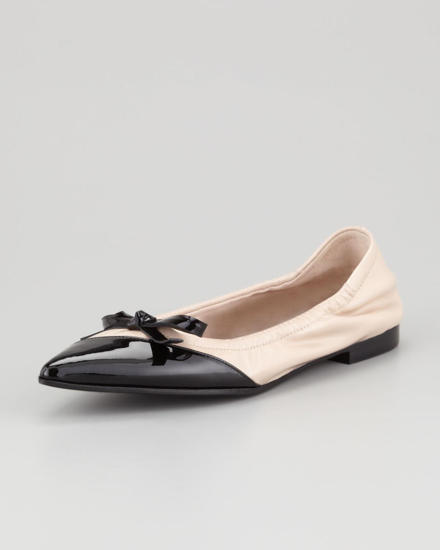 Pictures Sale Online Visa Payment For Sale Miu Miu Pointed toe ballerinas Outlet Excellent Sale Reliable 2SvR8GVbLs