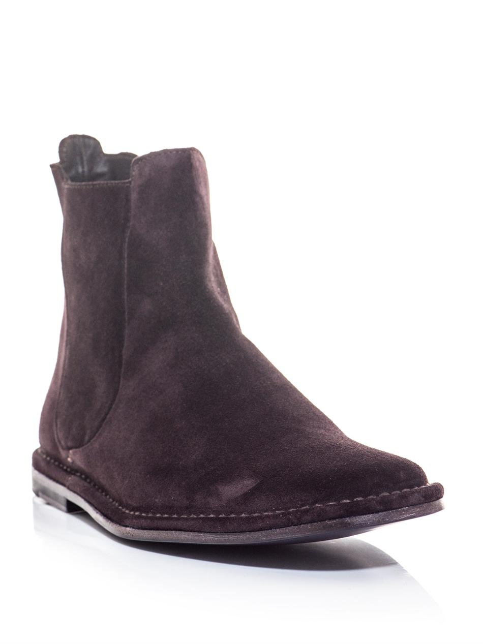 Paul Smith Riley Suede Chelsea Boots In Purple For Men