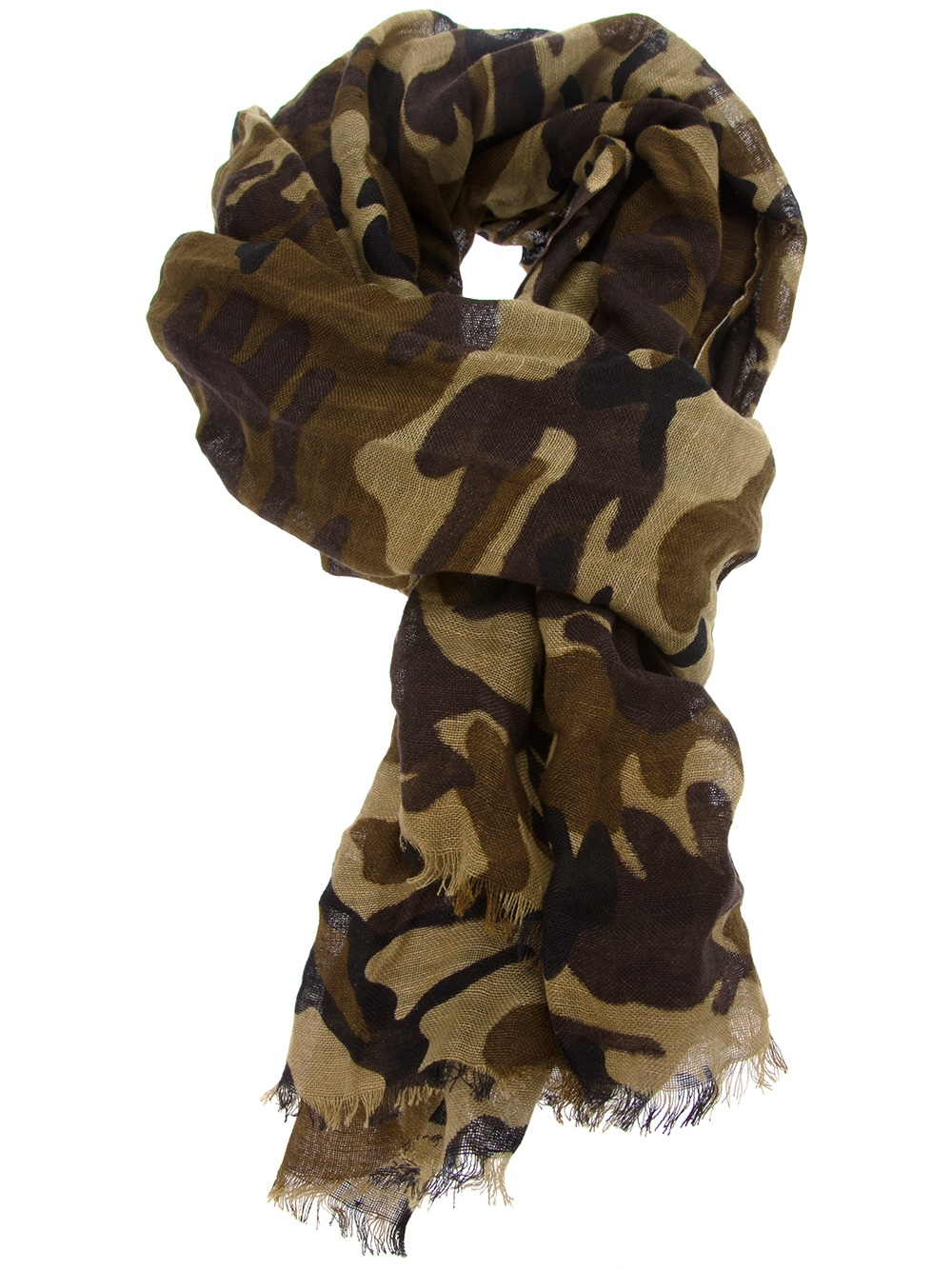 Polo Ralph Lauren Camouflage Print Scarf in Green for Men ...