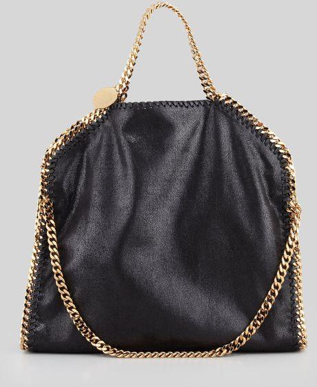 Stella Mccartney Falabella Foldover Shoulder Bag in Black