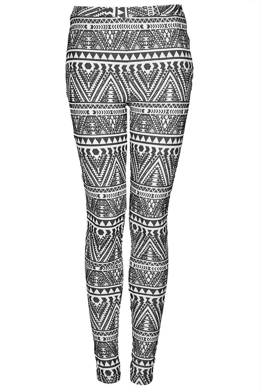 Topshop Tall Tribal Flocked Leggings in White | Lyst