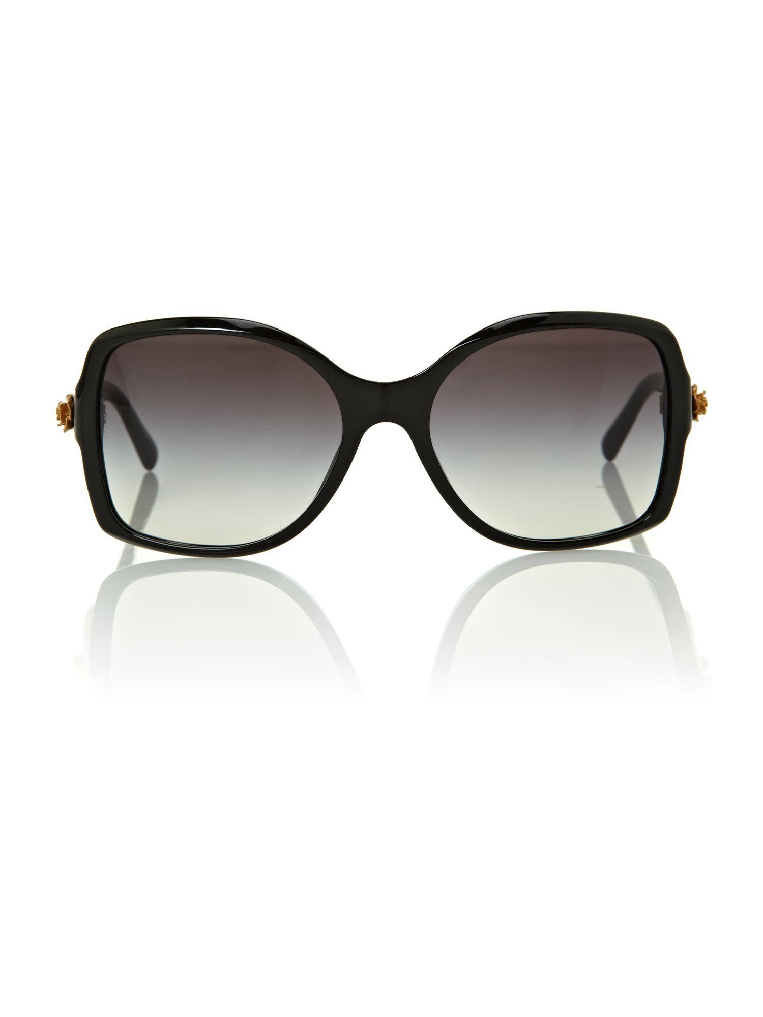 Dolce & Gabbana Ladies Black Square Sunglasses