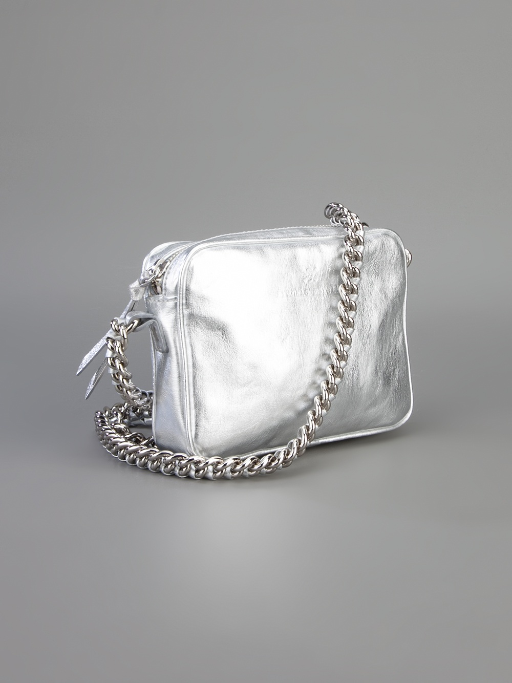 Frankie Morello Small Shoulder Bag In Silver Metallic Lyst