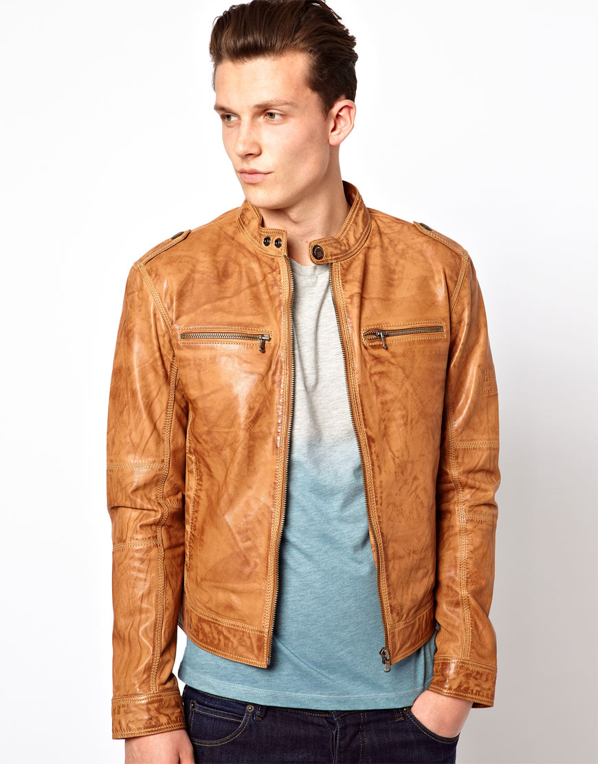 Lyst - Pepe Heritage Pepe Heritage Leather Jacket Dyer ...