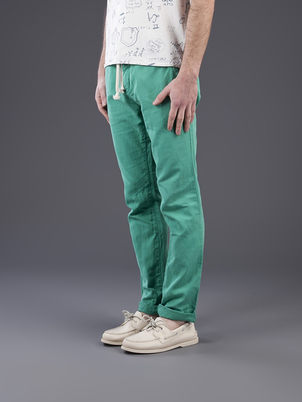 Lyst Scotch Amp Soda Jagger Beach Pant In Green For Men