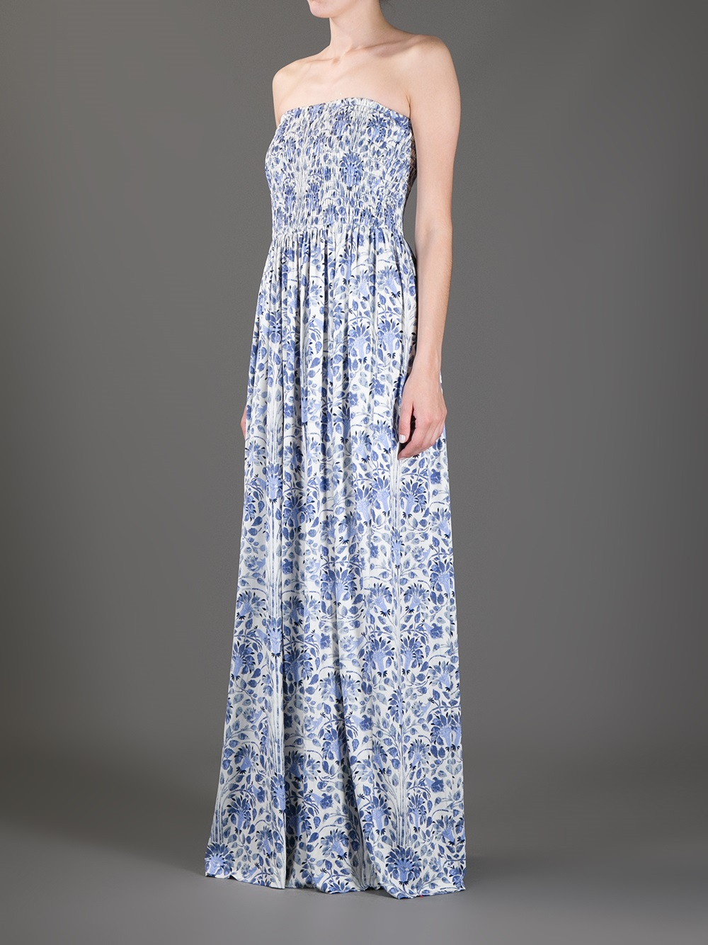 Lyst Tory Burch Floral Silk Maxi Dress