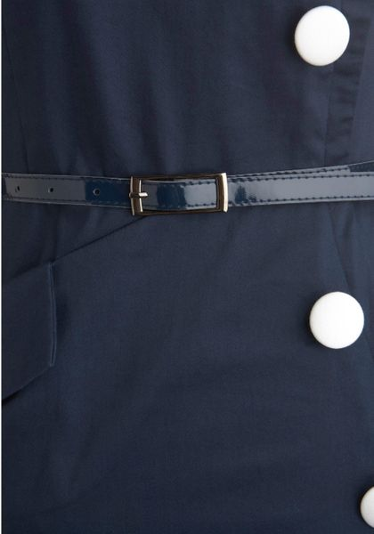 Modcloth Asymmetry Grows in Brooklyn Dress in Blue - Lyst