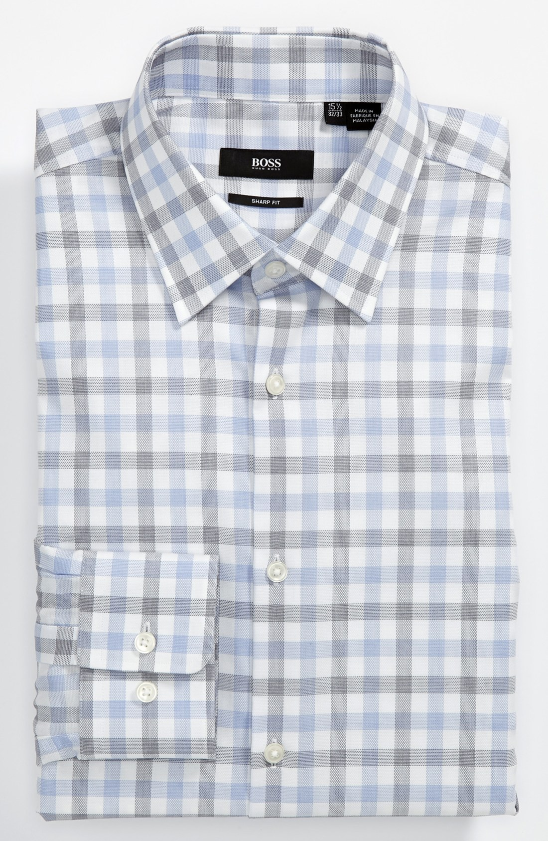 Boss by hugo boss sharp fit dress shirt in blue for men lyst for Hugo boss dress shirts