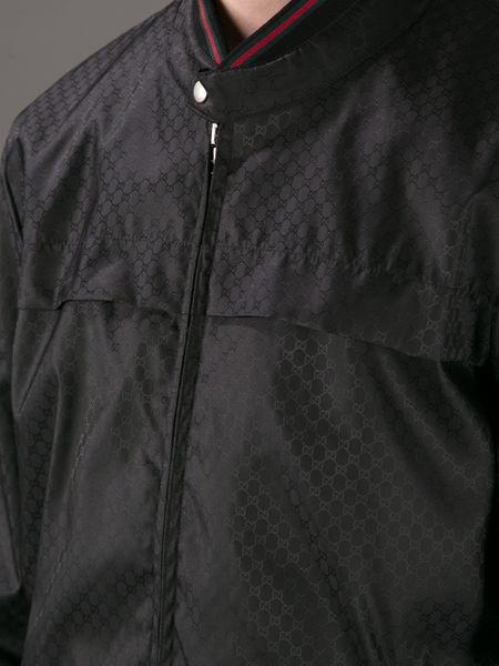 Gucci Monogram Wind Breaker In Black For Men Lyst